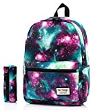 hotstyle TRENDYMAX Galaxy Backpack Cute for School | Green | Bundles with Matching Pencil Bag