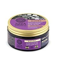 Anti Cellulite Scrub Natura Siberica Exfoliating 100% Natural Bio-Scrub with Black Healing Mud and Juniper Berries with Anti-Age and Lifting Effect for All Skin Types