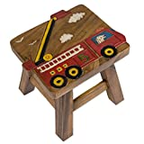 Product review for Red Fire Truck Design Hand Carved Acacia Hardwood Decorative Short Stool