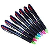 Ipienlee Multinational Ballpoint Pens 0.7mm 4 Color Ink (Black, Blue, Red, Green) in One Ballpoint Pen, Pack of 12