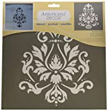 DecoArt Deco Art ADS-01 Americana Decor Stencil, Brocade Motif, 1