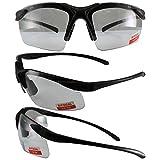 Apex Bifocal Safety Glasses UV400 Magnifying Reading Eyewear 2.50, (Clear,Black), Large