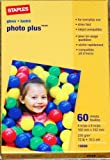 Staples Photo Plus Gloss Paper, 4 X 6-Inch, 60 sheets - Pack of 5