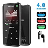 RUIZU D10 MP3 Player with Bluetooth 4.1, 8G Portable Lossless Sound Metal Music Player with Touch Button 2.4'' Screen, FM Radio Voice Recorder, Video Playback, Music Speaker, Support Up to 128 GB