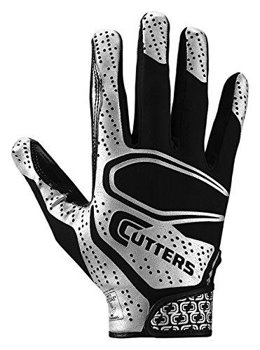 Cutters Rev 2.0 Receiver Gloves, Pair, Youth,Medium,Black