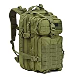 REEBOW GEAR Military Tactical Assault Backpack Small 3 Day Assault Pack Army Molle Bug Bag Backpacks Rucksack Daypack for Outdoor Hiking Camping Hunting Army Green