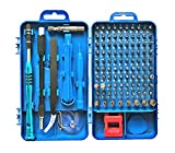 Precision Screwdriver Set, Apsung 110 in 1 Professional Screwdriver Set, Multi-function Magnetic Repair Computer Tool Kit Compatible with iPhone/Ipad/Android/Laptop/PC etc(Blue)