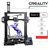 Luxnwatts Ender 3 Pro 3D Printer DIY Kit Resume Print 8.6' x 8.6' x 9.8' with Meanwell Power Supply and New Soft Magnetic Build Surface Plate from Creality