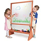 Svan Double Sided Indoor/Outdoor Plexiglass Art Easel (21 X 36 X 51 in) - Easy to Clean, Kids Can Draw or Paint On Both Sides