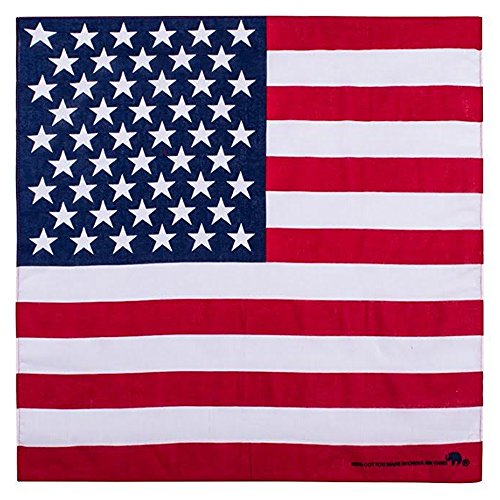 Elephant Brand Bandanas 100% cotton since 1898-12 Pack (American Flag)
