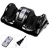 AW Shiatsu Foot Massager Kneading and Rolling Leg Calf Ankle with Remote Control Personal Home Health Care Black