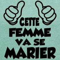 Spreadshirt-EVJF-Cette-Femme-Va-Se-Marier-T-Shirt--Manches-retrousses-Femme