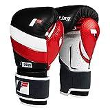 Fighting Sports S2 Gel Fear Bag Gloves, Black/White/Red, 16 oz