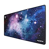 VicTsing Gaming Mouse Pad, Large Mouse Pad (31.5×15.75×0.12 in), Ergonomic Mouse Pad with Durable Stitched Edges, Non-Slip Rubber Base, Water-Resistant Mouse Mat for Office/Computer/Laptop (Colorful)