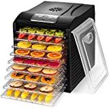 MAGIC MILL Professional Food Dehydrator, 9 Drying Racks Multi-Tier Food Preserver, Digital Control BUNDLE BONUS 2 Fruit Leather Trays, 1 Jerky Hanging Rack 1 Fine Mesh Sheets,