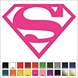 "Superman Supergirl Sticker / Vinyl Decal - Pink 4"" - DC Comics, Justice League"