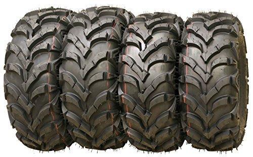 5. Wanda P341 ATV/UTV Tires 25 x 8-12 Front & 25 x 10-12 Rear, Set of 4