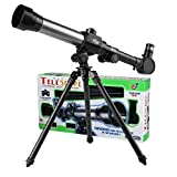 GGIENRUI Kids Telescope Educational Science Toy Telescope for Kids Beginners Astronomy Telescope with Tripod 20X 30X 40X Magnification Eyepieces