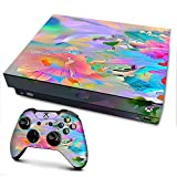 IT'S A SKIN Xbox One X Console & Controller Decal Vinyl Wrap | Watercolors Vibrant Floral Paint