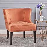 Christopher Knight Home 301259 Aria Occasional Chair | Wing Back | Nail Head Accents | Button Tufted | Corded | Fabric in Orange,