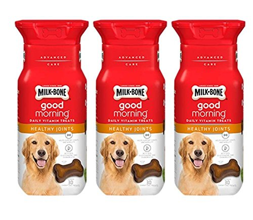 Milk-Bone Good Morning Daily Vitamin Treats Healthy Joints - Pack of 3, 6 Oz. Ea. 1