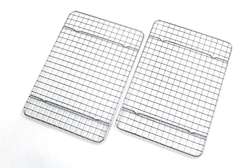 Checkered Chef Cooling Racks For Baking Quarter Size