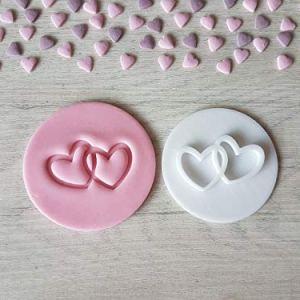 2 Hearts Valentine's Day Embosser Stamp 51VtYGsPDxL