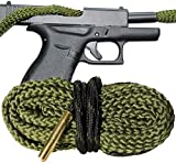Bore Cleaning Snake For Your 9 MM Pistol - One Pull Cleaning - Glock Ruger Smith and Wesson Kimber Beretta Heckler & Koch Remington SIG Sauer Springfield Armory Taurus Walther Cobra Bore Snakes