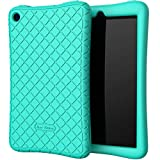 Bear Motion Silicone Case for All-New Fire 7 Tablet - Anti Slip Shockproof Light Weight Kids Friendly Protective Case for Fire 7 (ONLY for 9th Generation 2019 Model) - Green