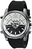DC Comics Men's Quartz Metal and Silicone Casual Watch, Color:Black (Model: BVS9054)