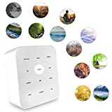 SHARPER IMAGE Ultimate Sleep Sound Machine for Adults & Kids, Soothing Musical Machine for Stress & Anxiety Relief, Promotes Healthy Sleeping Pattern with Relaxing White Noises