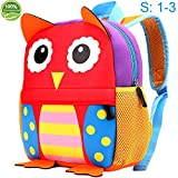 Toddler Backpack for Boys and Girls, 10.6' Owl School Bag, Suitable for 1-3 Years kids