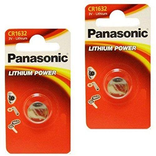 4pcs Panasonic CR1632 CR 1632 3v Coin Lithium Battery, REMOTE KEYLESS ENTRY TRANSMITTER FOB Battery