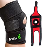 TechWare Pro Knee Brace Support - Relieves ACL, LCL, MCL, Meniscus Tear, Arthritis, Tendonitis Pain. Open Patella Dual Stabilizers Non Slip Comfort Neoprene. Adjustable Bi-Directional Straps - XL