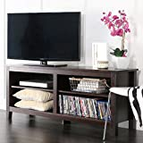 WE Furniture AZ58CSPES Classic Wood TV Stand, 58-Inch, Espresso