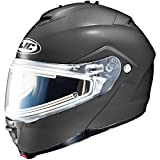 HJC Solid With Electric Lens Adult IS-Max 2 Snocross Snowmobile Helmet - Matte Black / 4X-Large