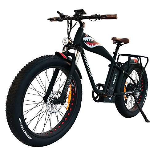 Addmotor MOTAN 1000W Electric Bicycle 14.5Ah Lithium Battery Electric Bike 26 Inch Fat Tire Ebike Front Fork Suspension Mountain Beach Snow Pedal Assist M-5500 for Adults Men (Black)