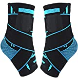 Plantar Fasciitis Compression Sock, 1 Pair Sport Ankle Brace & Achilles Tendon Sleeve with Arch Support &,Foot Care for Eases Swelling,Pain Relief Heel Spurs-Aquamarine