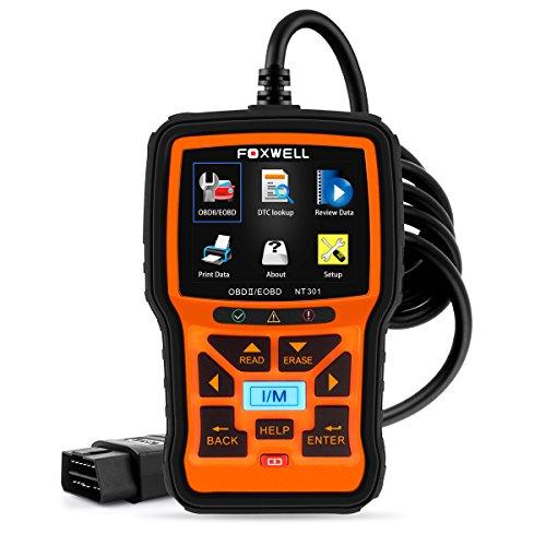 FOXWELL NT301 Car Obd2 Code Scanner Universal Check Engine Light Diagnostic Tool Automotive Fault Code Reader CAN Obd II Eobd Scan Tool