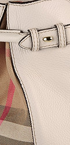 5924daab0f8 Tote Bag Handbag Authentic Burberry Medium Banner in Leather and House Check  Natural Item 39589791
