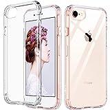 ULAK Slim Ultra Clear iPhone 8 Case, iPhone 7 Case 4.7 Inch, Hybrid TPU PC Shock-Absorption Anti-Scratch Bumper Hard Back Cover (HD Crystal Clear)
