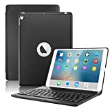 New iPad Air 2019(3rd Generation) 10.5'/iPad Pro 10.5' 2017 Keyboard Case,Boriyuan Protective Ultra Slim Hard Shell Folio Stand Smart Cover with 7 Colors Backlit Wireless Bluetooth Keyboard (Black)
