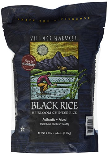Village Harvest Heirloom Chinese Black Rice - 4 Lb/64 Oz