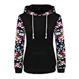 Product review for Leoy88 Women's Floral Printed Long Sleeve Pullover Hoodies with Pocket