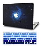 KECC Laptop Case for MacBook Air 13' w/ Keyboard Cover Plastic Hard Shell Case A1466/A1369 2 in 1 Bundle (Blue)