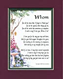 Mom A Mother's Day Present Poem Birthday Gift For A Mother. #03, More Color Options