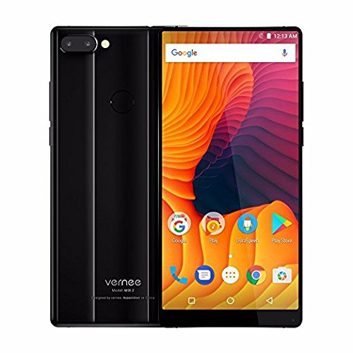 Vernee MIX 2 6.0'' 18:9 FHD Android 7.0 MT6757 Octa Core 6G RAM 64G ROM 4200mA 4G Dual Back Cameras (Black 6G)