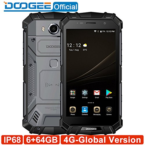 DOOGEE S60 Wireless Charge 5580mAh 12V2A Quick Charge 5.2'' FHD Helio P25 Octa Core 6GB 64GB Smartphone 21.0MP Camera