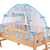 OTraki Pop Up Mosquito Net Baby Crib Tent 63.8 x 32.3 x 35.4 inch Folding Sleep Bug Nets Toddler Kids Boys Girls Anti Mosquito Bottomed Bed Netting Popup Mesh Canopy Easy Installation