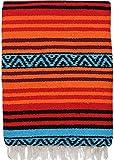 El Paso Designs Peyote Hippie Blanket Classic Mexican Style Falsa Stripe Pattern in Vivid Peyote Colors. Throw, Bed, Tapestry, or Yoga Blanket. Hand Woven Acrylic, 57' x 74' (Peyote 5)